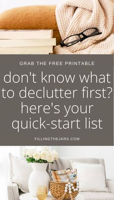 This post walks you through your house to show you what you can EASILY toss to get quick decluttering wins. Stop being overwhelmed by too much stuff and grab the room by room printable checklist to help you start decluttering FAST. #organizing #decluttering Home Organisation, Life Organization, Clutter Control, Real Estate Quotes, Real Estate Tips, Declutter Your Home, Business Motivational Quotes, Business Quotes, Home Free