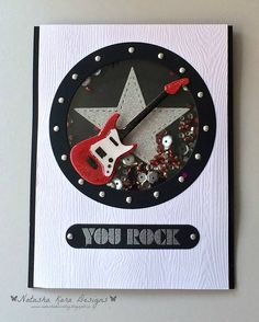 card music guitar you rock My Favorite Things Challenge & Inspiration MFT die-namics #mftstamps porthole from MFT Let´s get nautical - woodgrain