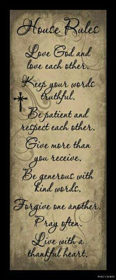 Reglas para el hogar
