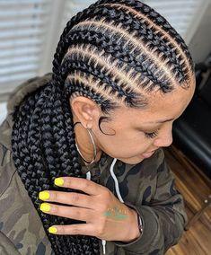 Cute Box Braids Hairstyles, Braided Cornrow Hairstyles, Braids Hairstyles Pictures, Black Girl Braids, Braided Hairstyles For Black Women, African Braids Hairstyles, Cornrows, Hairstyle Ideas, Protective Hairstyles