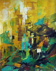 "Saatchi Online Artist: Ramesh A R; Acrylic, 2012, Painting ""The City 2"""
