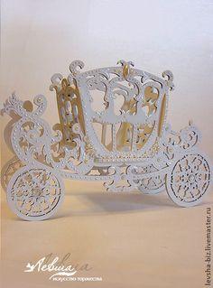 Свадебная карета - белый,свадебные аксессуары,свадебное украшение,свадебное шампанское