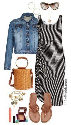 2ce3c34104272 Plus Size Summer Striped Dress Outfit. Plus Size Summer FashionWomen s ...