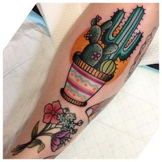 Melanie Milne tattoo cactus  I feel like something like this would be really cute to represent my move to texas (: