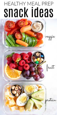 Eating healthy on-the-go has never been easier with these delicious, colorful, and nutritious Meal Prep Snack Ideas. Eating healthy on-the-go has never been easier with these delicious, colorful, and nutritious Meal Prep Snack Ideas. Lunch Meal Prep, Healthy Meal Prep, Healthy Drinks, Meal Prep Dinner Ideas, Healthy Nutrition, Healthy Weekend Meals, Daily Meal Prep, Healthy Breakfast Meal Prep, Fitness Meal Prep