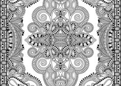 final printed pattern coloring page pic