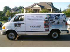 Careli Party Rentals partial wrap with vinyl lettering