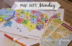 cultivated by grace: map work monday {CC geography}