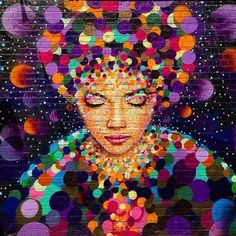 Street Artist Jimmy C's painting in Birmingham's City of Colours Festival 2014.