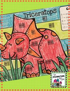 Color by Number - The kids will love working on math with this dinosaur theme. $