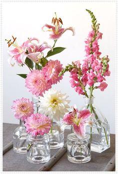 lodijoella: Floreros de vidrio para centros de mesa