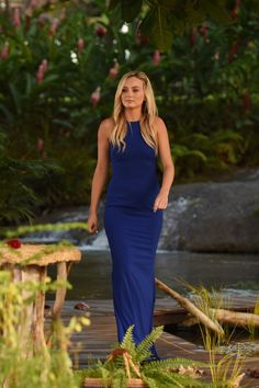 The Bachelor Season 20 Ben Higgins Lauren Bushnell Lauren Bushnell, Ben And Lauren, Royal Blue Gown, B Fashion, Playing Dress Up, Dress Me Up, Street Style Women, Beautiful Dresses, Beautiful Women