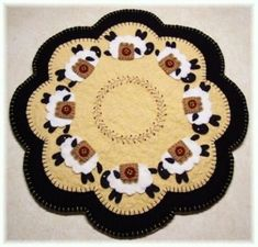 Penny Sheep Penny Rug Candle Mat