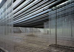 Marquee for Les Cols restaurant RCR Arquitectes Family Picnic, Light And Space, Peaceful Places, Outdoor Life, Restaurant Design, Steel Frame, Countryside, Landscape, Facades