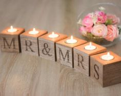 home decor candle holder Wooden Candle holder by HappyWeddingArt                                                                                                                                                                                 More