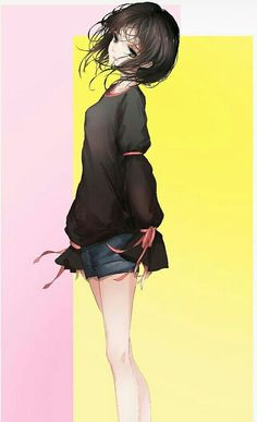 Brown hair and eyes anime girl Pretty Anime Girl, Beautiful Anime Girl, Kawaii Anime Girl, Anime Art Girl, Anime Girls, Manga Girl, Anime Chibi, Manga Anime, Kaai Yuki