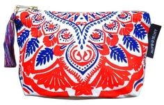 Get the trendiest Clutch of the season! The Antik Batik L'occitane Red Pouch Red, White, & Blue Clutch is a top 10 member favorite on Tradesy. Save on yours before they are sold out! Ethnic Patterns, Print Patterns, Blue Clutch, Folk Fashion, Red White Blue, Diaper Bag, Pouch, Brand New, Cotton
