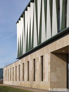 Fraunhofer Institute for Marine Biotechnology, Lübeck | Germany | Müller Reimann Architekten, Berlin | Photo: Stefan Müller | ALUCOBOND® Special Colour Green Metallic