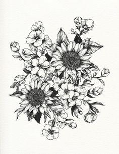 Resultado de imagen para girasol tattoo tumblr