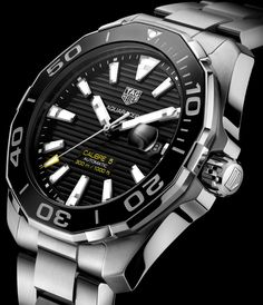 Updated TAG Heuer Aquaracer and Full-Ceramic Aquaracer Lady Watches G Shock Watches, Rolex Watches, Tag Heuer Aquaracer Ladies, Audemars Piguet Watches, Dream Watches, Elegant Watches, Omega Seamaster, Luxury Watches For Men, Fashion Watches