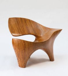 David Delthony; Carved Laminated Plywood Chair, c1985.