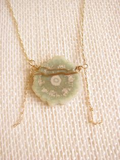 Jessica Matrasko Jewelry...Jasper Stalactite wrap necklace-Light Green LIMITED QUANTITY  Love all her things!