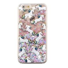 Magic Unicorn Quicksand Glitter Case. High Quality Case Covers the back and…