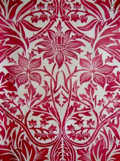 William Morris - Bluebell pattern (oddly in red)
