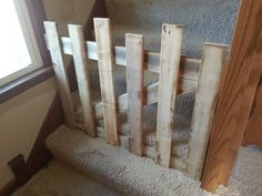 Rustic pallet wood baby or pet gates on Etsy, $50.00