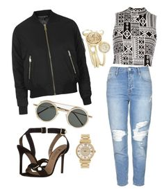 """"""""""" by frenchie-47 ❤ liked on Polyvore featuring mode, Versace, Topshop, River Island, Ted Baker, Spitfire et Michael Kors"""