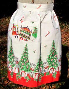 Sharon's Antiques Vintage Fabrics - Vintage Christmas Linens & Aprons