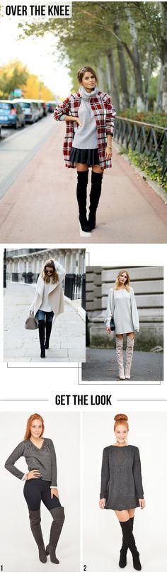 5 Peças que vão bombar no Inverno!   Como usar:Over the Knee. #moda #look #outfit #inspiração #getthelook #inverno #tendência #dicas #estilo #styling #blog #lnl #looknowlook