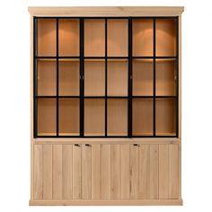 Charrell Home Interiors - CABINET LANCASTER 3 PARTS ALL GLASS - 180 X 48 - H 230 CM - vitrinekast