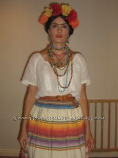 Easy Homemade Frida Kahlo Halloween Costume