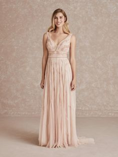 Adrianna Papell Platinum 40281 Art Deco Gown Plunging Neckline Dress, A Line Gown, Types Of Dresses, Dress Silhouette, Mesh Dress, Adrianna Papell, Wedding Bridesmaid Dresses, Formal Gowns, Mother Of The Bride