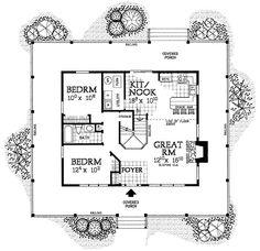 Cozy Charmer - 81338W | 2nd Floor Master Suite, CAD Available, Country, Den-Office-Library-Study, Farmhouse, Loft, PDF, Wrap Around Porch | Architectural Designs