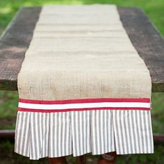 Alabama Burlap Table Runner