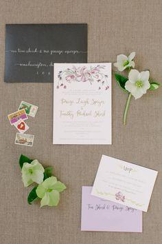 Type A Invitations - Illustrated Wedding Invitations #collaboration #custom #calligraphy #weddinginvitation #DCWedding Photo Credit: @kateheadleydc