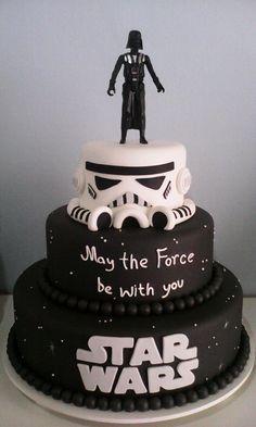 Aluguel - Star Wars Cake - Ideas of Star Wars Cake - Bolo Cenográfico Star Wars! Star Wars Torte, Bolo Star Wars, Star Wars Cake Toppers, Star Wars Cupcakes, Star Wars Wedding Cake, Star Wars Birthday Cake, Birthday Cakes, Aniversario Star Wars, Indian Cake