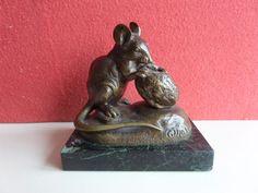 Clovis Masson (1838-1913) - Bronze mouse with walnut - ca. 1880 - Catawiki