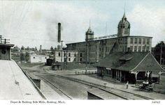 Depot & Belding silk Mills, Belding, Michigan