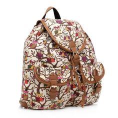 Vintage Women Girls Canvas Shoulder Bag Backpack Rucksack Satchel School Bookbag   eBay