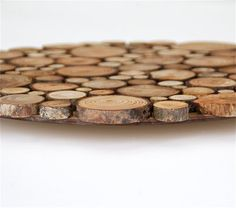 Rustic Circular Wood Tree Slice Centerpiece Decorative Wall