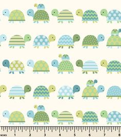 "Snuggle Flannel Fabric 43""-Turtle Parade"