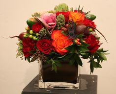 Flower and Vegetable Bouquet using Beets and Peppers