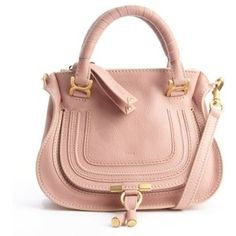 Chloe Anemone pink lambskin leather 'Marcie' mini crossbody bag