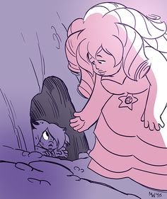 Rose picks up Amethyst steven universe