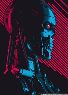 The Terminator Screen Print Vector Poster Art created for London Film and Comic Con 2017 T 800 Terminator, Terminator Movies, Skynet Terminator, Science Fiction, Fiction Movies, Arnold Schwarzenegger, Arte Cyberpunk, Cyberpunk City, James Cameron