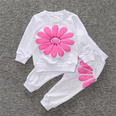 ST185 2016 spring autumn children girl clothing set baby girls sports sunflower costume kids clothing set suit - Ali Style Ali Style Kids Girls, Baby Girls, Twin Babies, Girl Clothing, Sport Girl, Kids Wear, Outfit Sets, Kids Outfits, Kids Fashion