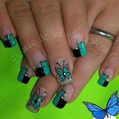 Toe Polish, Summer Nails, Fun Nails, Nail Art Designs, Finger, Hair Beauty, Triangles, Butterfly, Creative